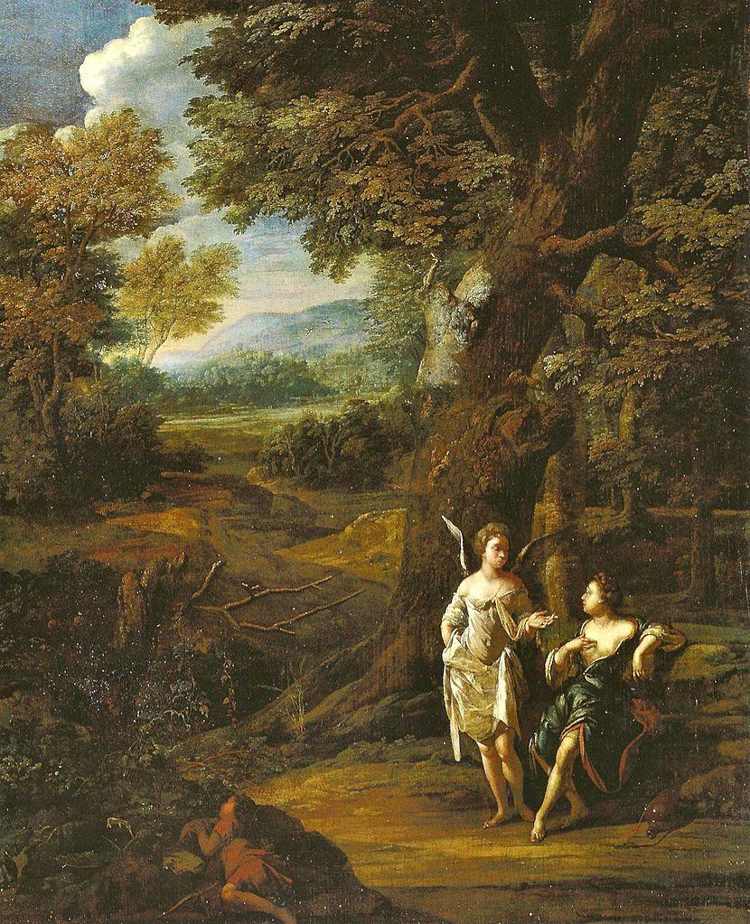 Eglon_van_der Neer 1697 Hagar_und_Ismael_in_der_Wuste Staatsgalerie im Neuen Schloss Bayreuth