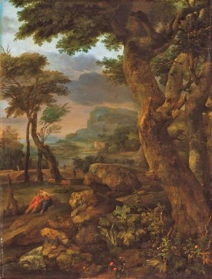 Eglon_van_der Neer 1700 Mountainous forest landscape B Schwerin Museum