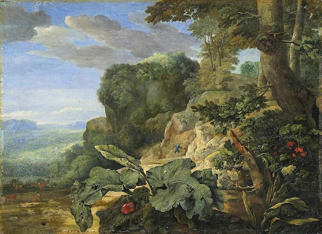 Eglon_van_der Neer 1702 Felsenlandschaft Staatsgalerie im Neuen Schloss Bayreuth
