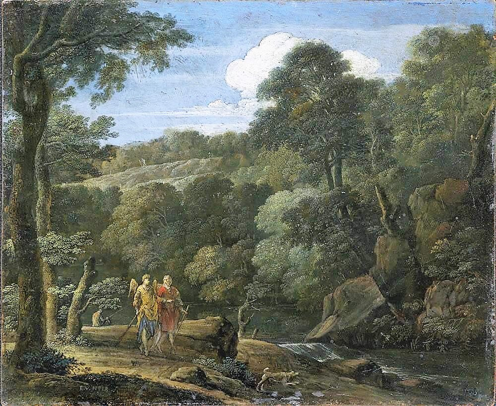 Eglon_van_der_Neer 1698-1703_Landschaft_mit_Tobias_und_dem_Engel_-_2862_-_Alte Pinakothek Munchen