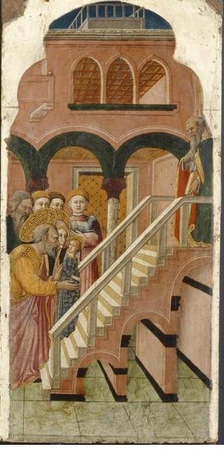 Francesco de Rimini 1440-450 Louvre Paris Presentation de la Vierge au Temple 1