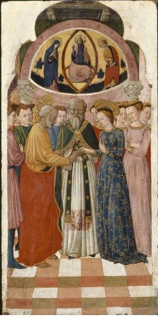Francesco de Rimini 1440-50 Louvre Paris A Mariage de la Vierge