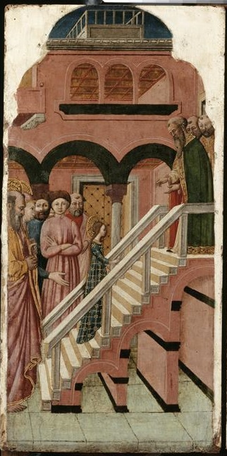 Francesco de Rimini 1440-50 Louvre Paris Presentation de la Vierge au Temple 2