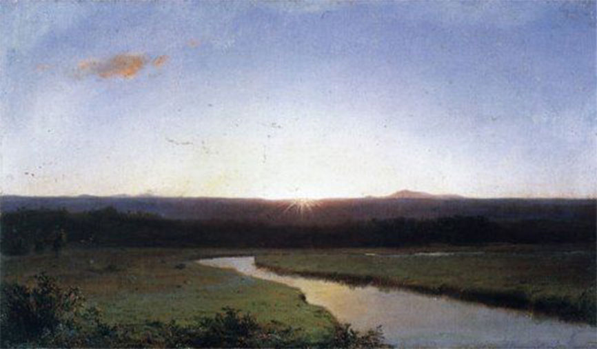 Frederic Edwin Church 1862 Sunrise Olana State Historic Site