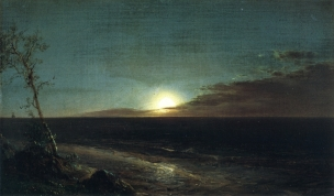 Frederic Edwin Church 1865 Moonrise Olana State Historic Site