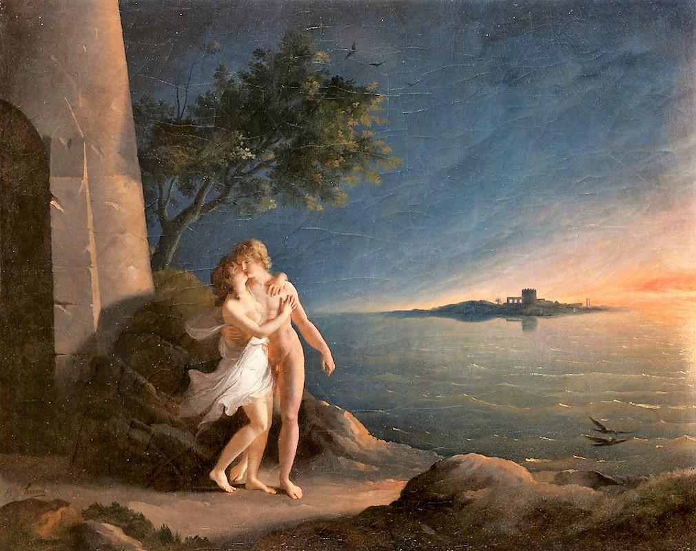 Fulchran-Jean Harriet, 1796 Les Amours de Hero et Leandre Musee des Beaux-Arts Rouen, 62 x 79 cm