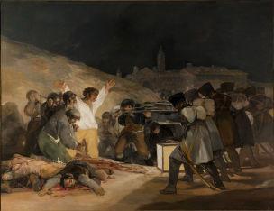 Goya 1814 El_tres_de_mayo_de_1808_en_Madrid Prado