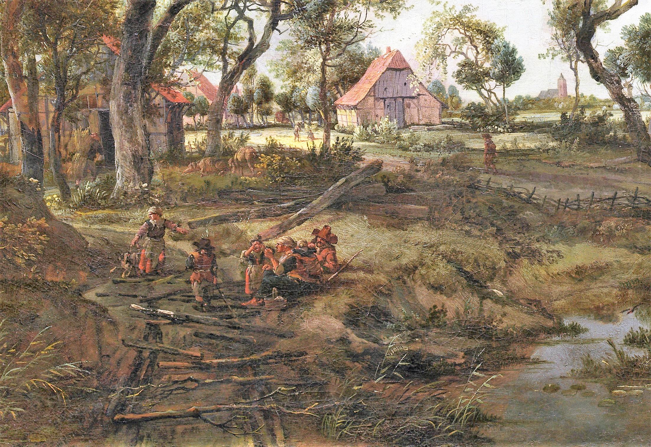 Hobbema-1668-Ferme-dans-un-rayon-de-soleil-NGA detail