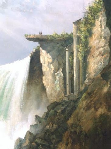 Horseshoe Falls from below the High Bank Gustav Grunewald, vers 1832, De Young Museum personnages