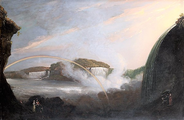 JOHN TRUMBULL 1807 Niagara Falls From Below The Great Cascade on the British Side Wadsworth Atheneum Museum of Art
