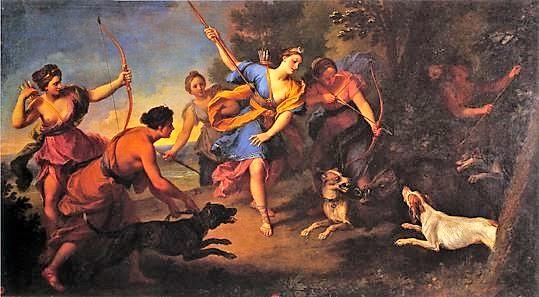 Louis de Boullogne 1707 La chasse de Diane - Musee des Beaux-Arts Tours