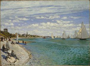Monet 1867 Regattes a Sainte-Adresse MET