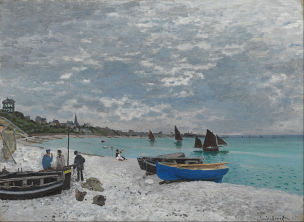 Monet 1867 The_Beach_at_Sainte-Adresse Art Institute of Chicago