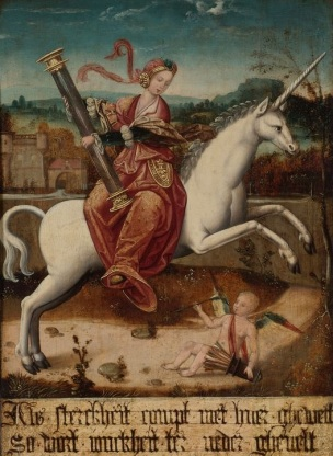 Netherlandish School, circa 1540 ALLEGORY OF VIRTUE coll privee