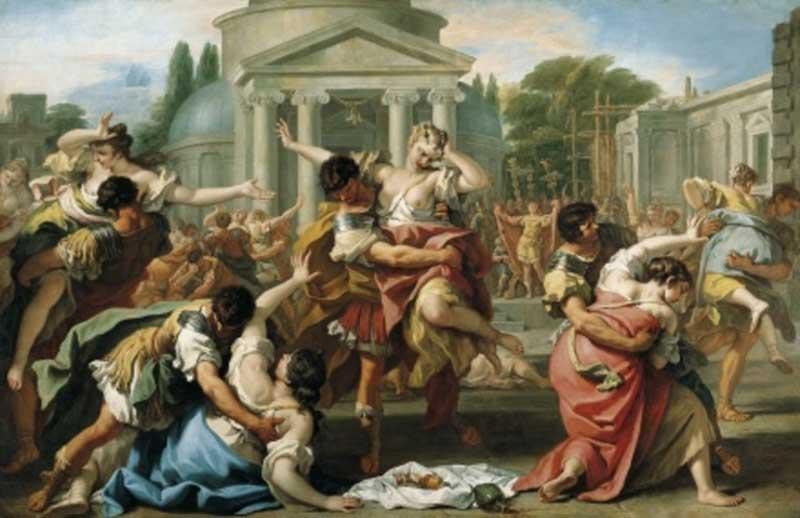 RICCI SEBASTIANO, 1700 ca The Rape of the Sabine Women, collections du Prince de Liechtenstein