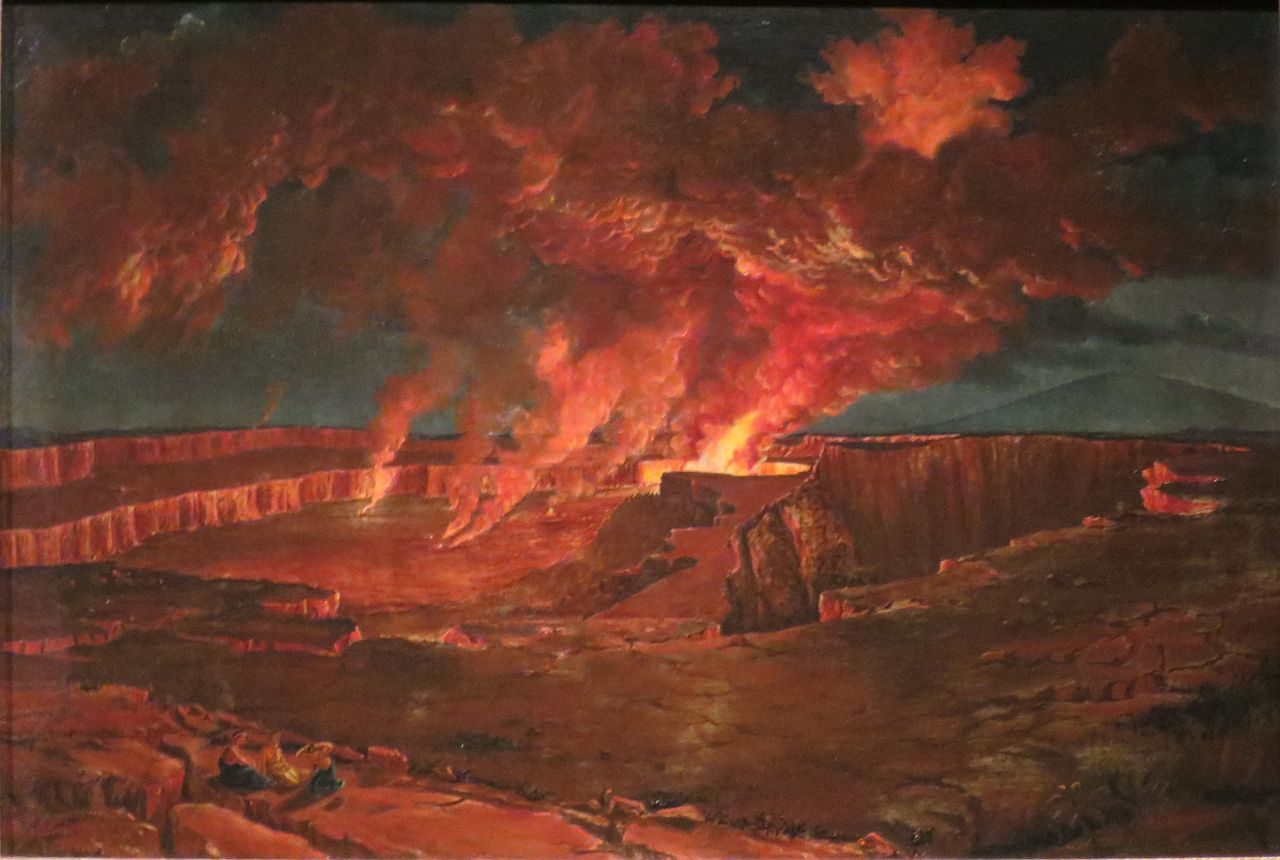 Titian Ramsay Peale, 1842 'Kilauea_by_Night Bernice P. Bishop Museum Honolulu