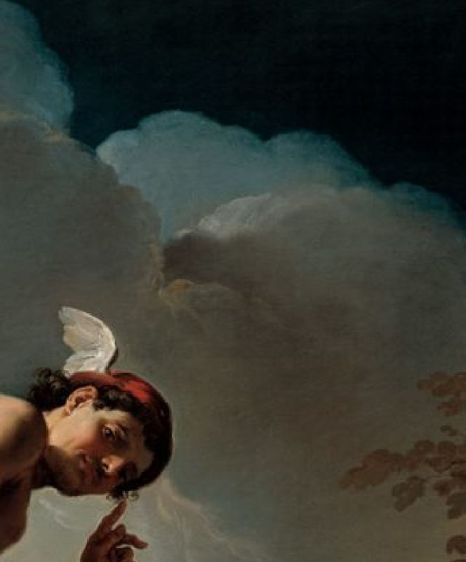 Ubaldo Gandolfi 1770-75 Mercure sur le point de trancher la tête d'Argus North Carolina Museum of Art Raleigh detail aigle
