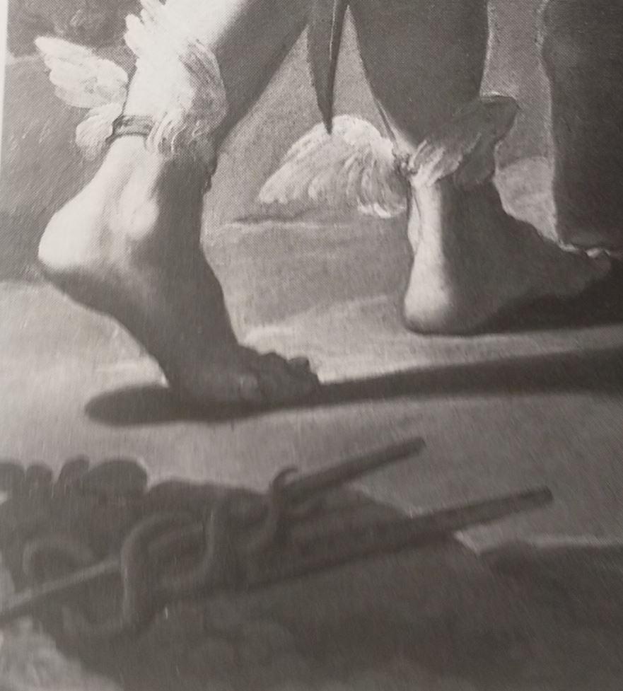 Ubaldo Gandolfi 1770-75 Mercure sur le point de trancher la tête d'Argus North Carolina Museum of Art Raleigh detail