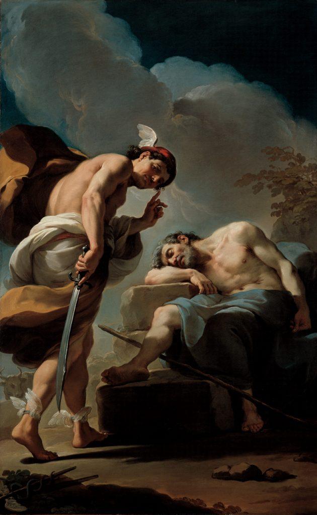 Ubaldo Gandolfi 1770-75 Mercure sur le point de trancher la tête d'Argus North Carolina Museum of Art Raleigh