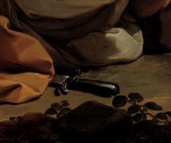 Ubaldo Gandolfi 1770-75 Mercury-Lulling-Argus-to-Sleep North Carolina Museum of Art Raleigh detail glaive