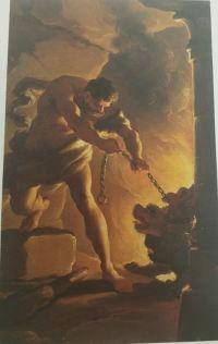 Ubaldo Gandolfi 1770 Hercule et Cerbere esquisse coll priv