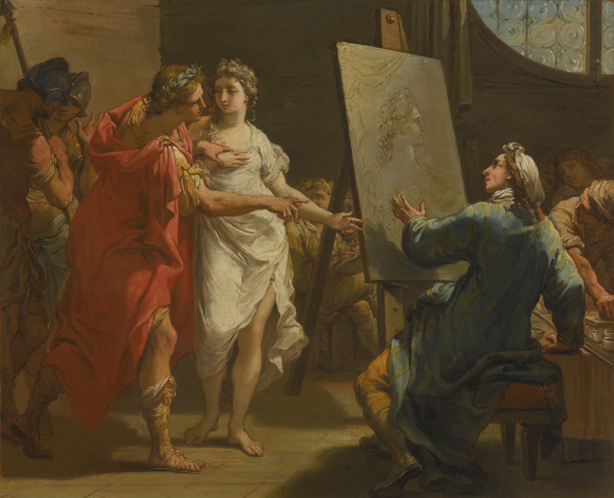 gandolfi gaetano 1792 alexandre et apelle coll priv