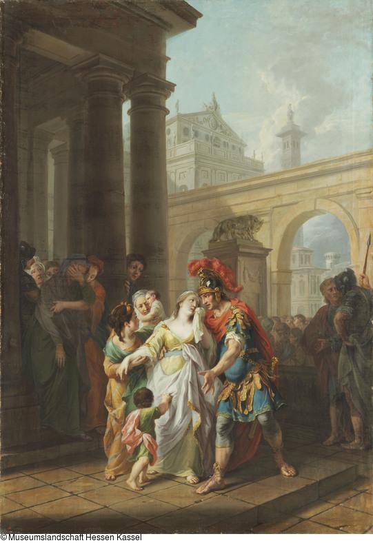 tischbein-Johann-1777-Coriolans-Abschied-von-seiner-Familie-Museum-Kassel