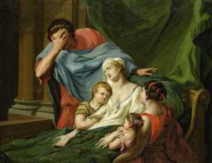 tischbein Johann 1780 ca admete pleurant alceste