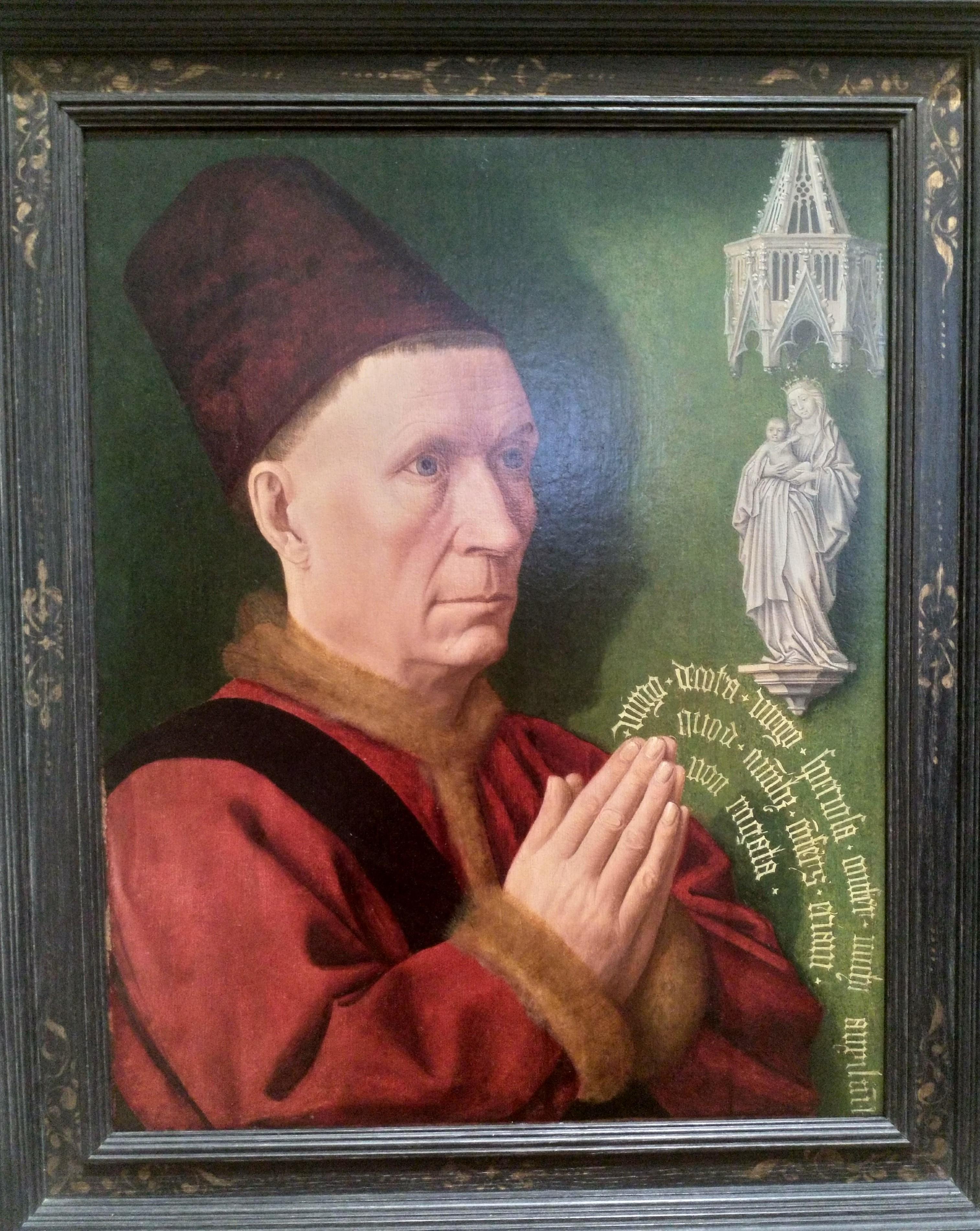 1470 ca Maitre de St Jean de Luze Portrait dit de Hugues de Rabutin Musee des BA Dijon
