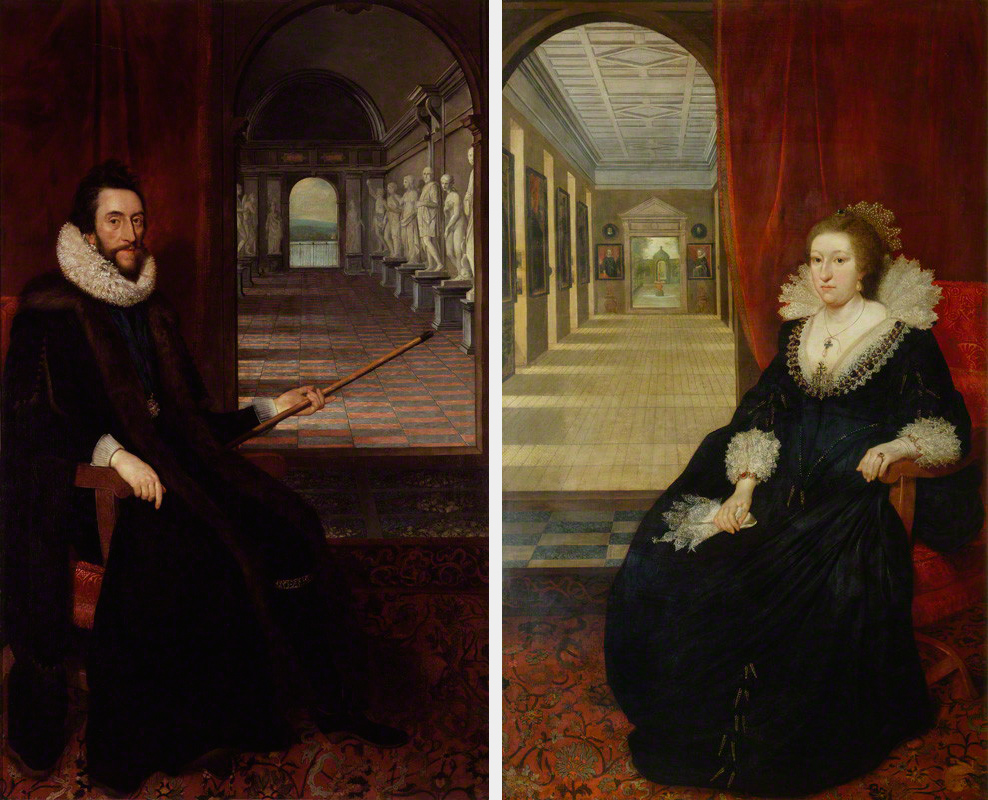 1618 ca Daniel Mytens, Thomas Howard, 2nd Earl of Arundel and Surrey, Alathea, Countess of Arundel and Surrey, Arundel Castle