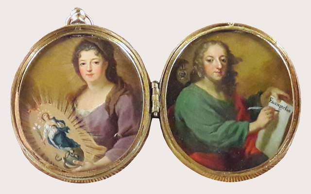 1719 Miniature of Theresa Kunegunda Sobieska and her son Jean Theodore Residenz Munich
