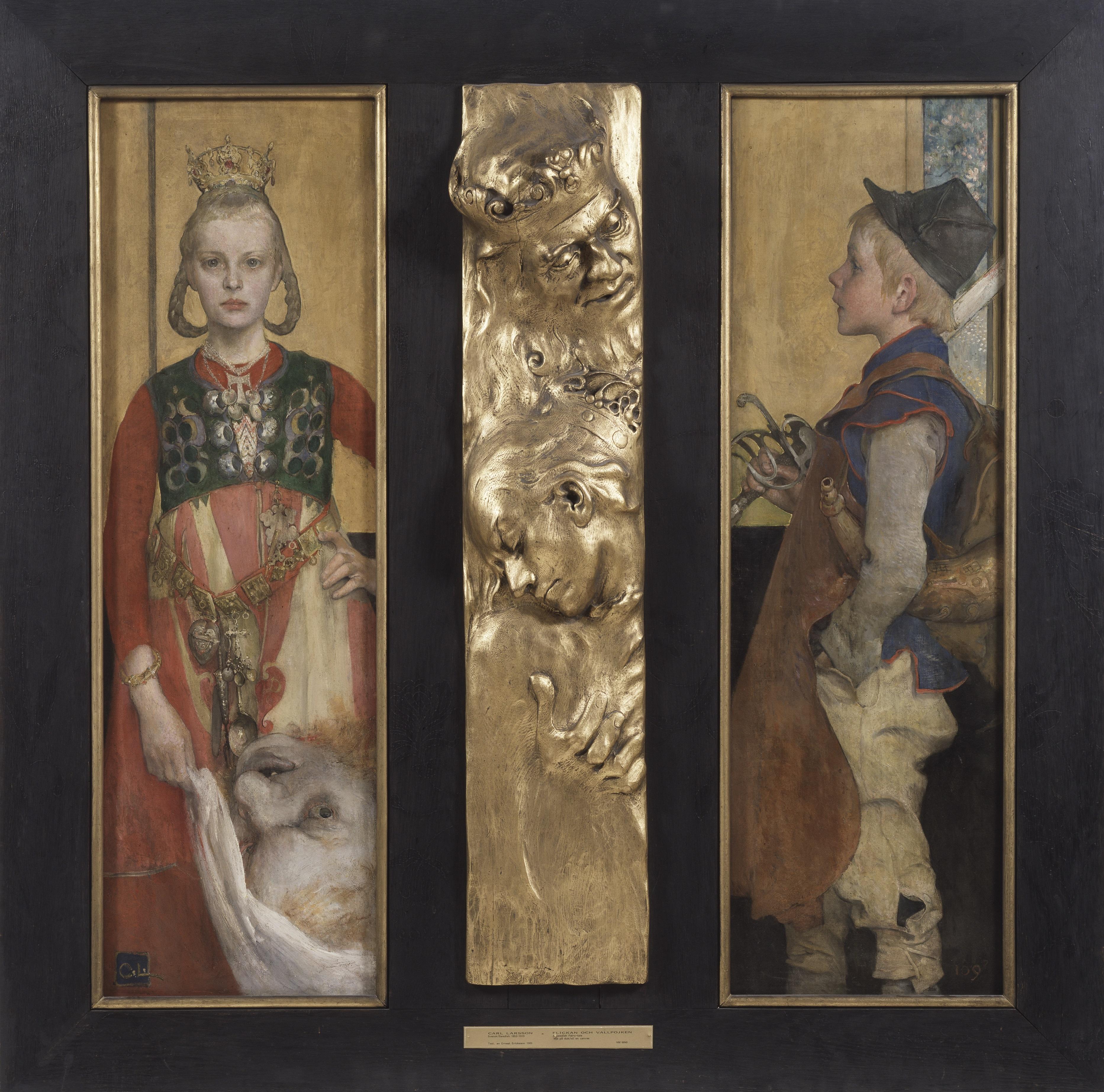 A_Swedish_Fairy_Tale_La princesse et le berger Prinsessan och Vallpojken(Carl_Larsson 1897)_-_Nationalmuseum_-_23889