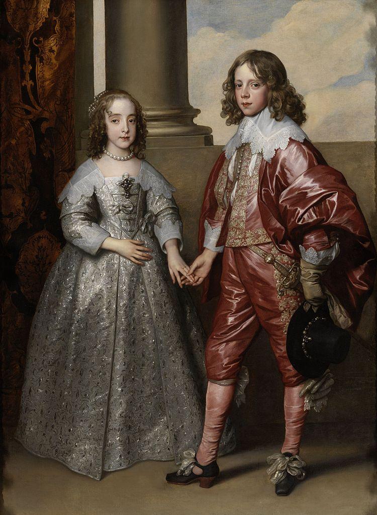 Antoine van Dyck, 1641 Le Prince Guillaume d'Orange (14 ans) et son epouse Marie-Henriette Stuart (10 ans) , Rijksmuseum, Amsterdam