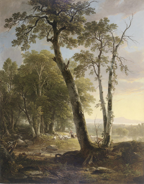 Asher Brown Durand 1847 Afternoon Mead Art Museum at Amherst College 152.4 x 121.9 cm
