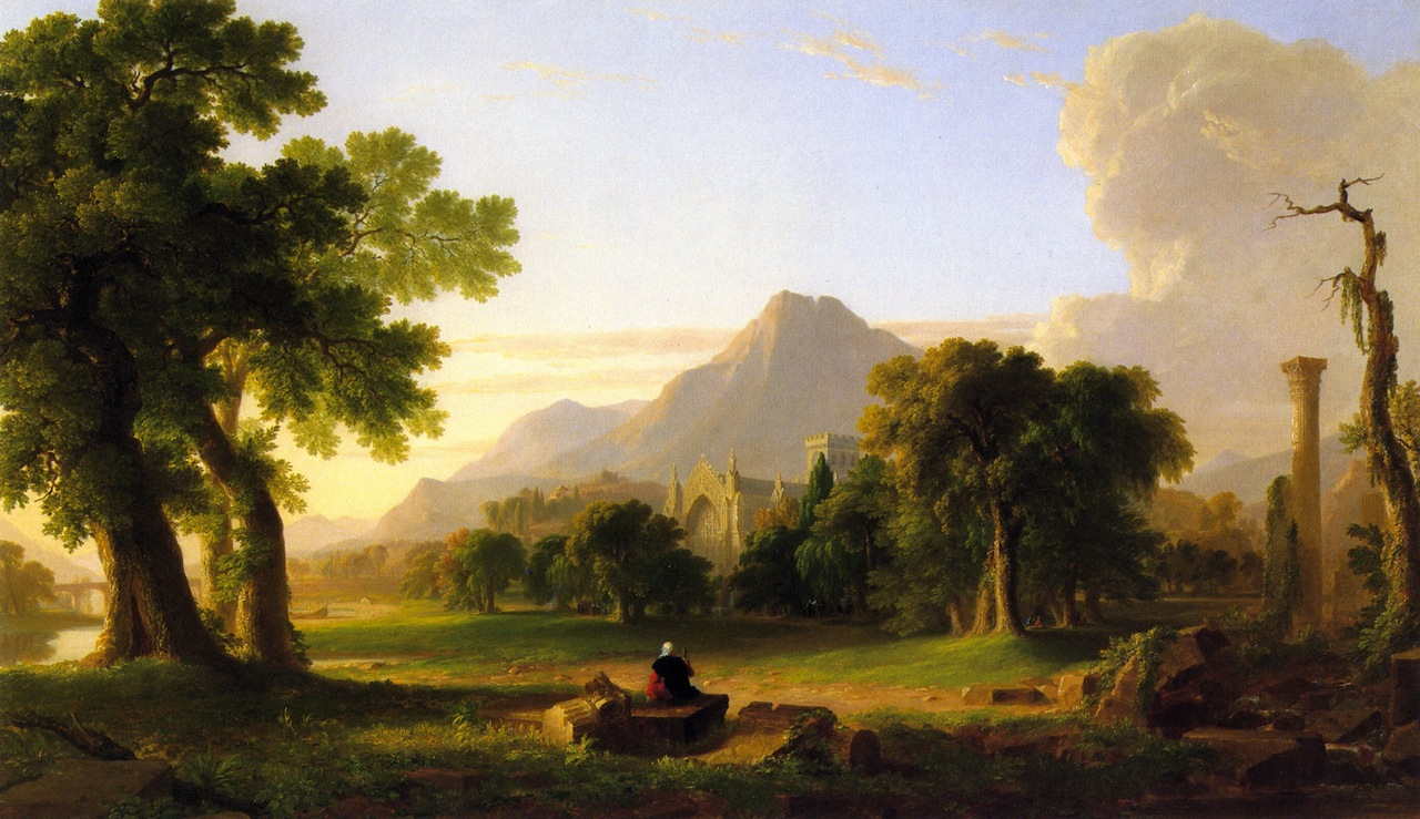 Asher-Brown.-Durand-The-Evening-of-Life 1840 The National Academy Museum and School of Fine Arts New York