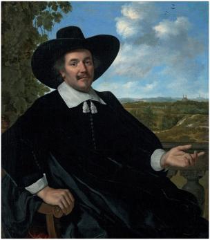 Bartholomeus van der Helst 1655 Portrait d'homme coll priv
