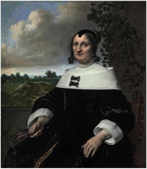 Bartholomeus van der Helst 1655 Portrait de femme coll priv