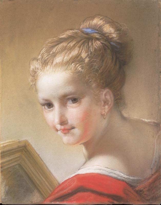 Benedetto-Luti-1717-Etude-de-fille-en-rouge-MET