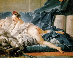 Boucher-1743-Lodalisque_brune_Louvre