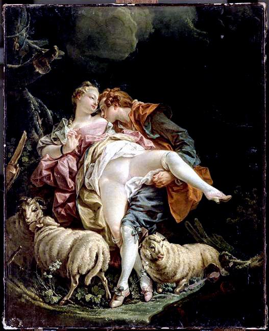 Boucher (d apres) couple-d-amoureux Louvre