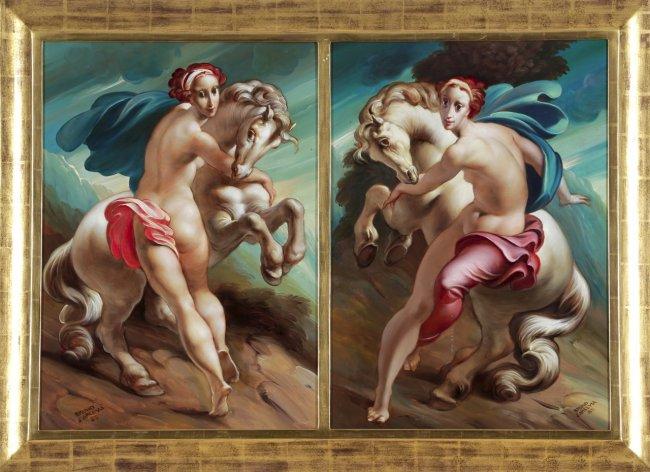 Bruno d'Arcevia 1985 Femmes avec chevaux