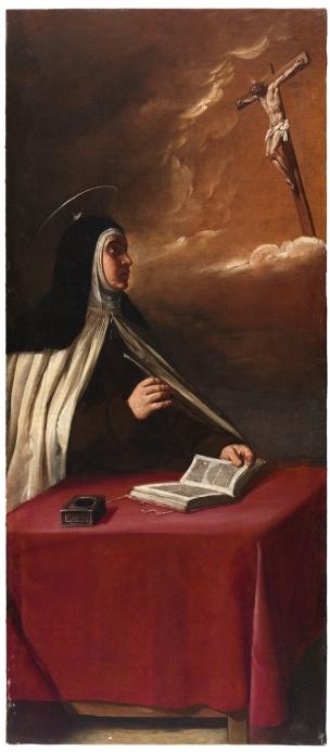 Cano Alonso Apparition du Christ crucifie a sainte Therese de Jesus 1629 Prado