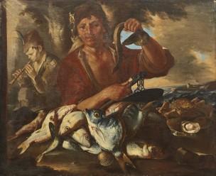 Cipper detto il Todeschini 696 - 1736 Vendeur de poissons.