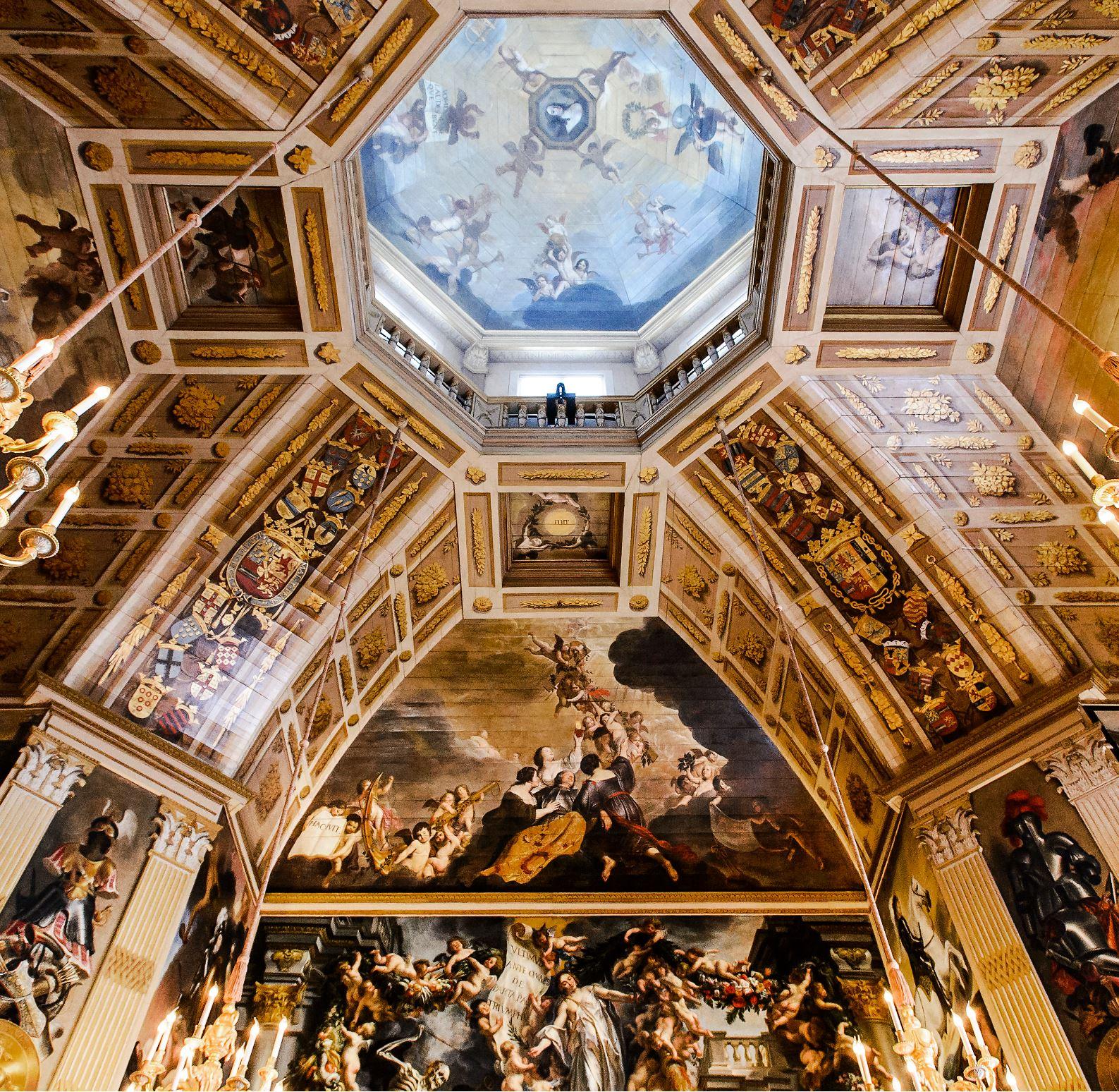 Coupole de l'Oranjezaal palais Huis ten Bosch La Haye