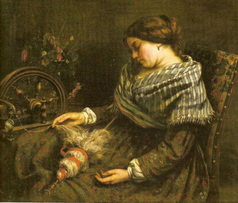 Courbet La fileuse endormie 1853 Musee Fabre