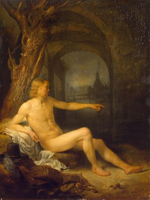 Dou 1660-65 Soldier_Bather Ermitage