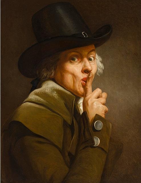 Ducreux 1790s Le Silence, Nationalmuseum Stockholm - 66,5 x 52,5 cm