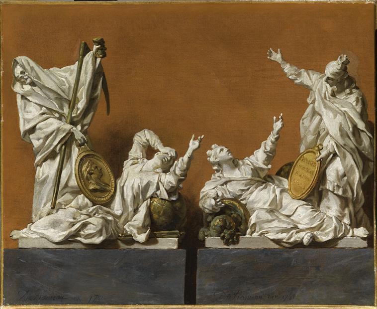 Durameau Projet pour un groupe sculpte du catafalque de l imperatrice Marie Therese 1781