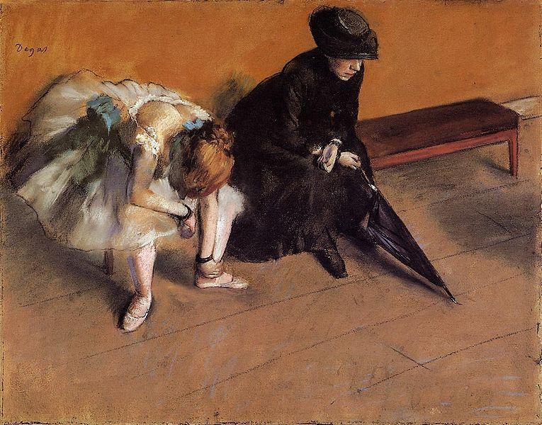 Edgar_Degas l attente 1882 Musee d Orsay