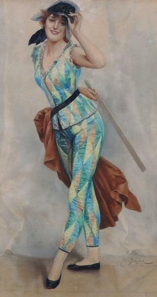 Emile Bayard 1886-87 Madame Arlequin